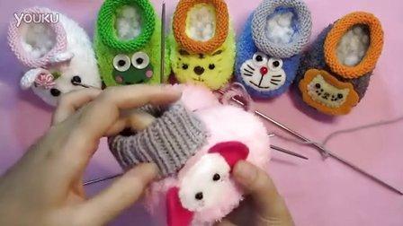 【artmay手工】第47集 棒针编织卡通造型宝宝婴儿绒线学步鞋之高鞋筒的编织教程