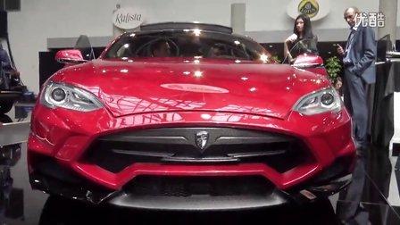 2015摩纳哥奢侈品展实拍 Larte Design 改装特斯拉电动超跑 Tesla P85D