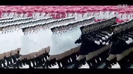 共和国阅兵 中国人民解放军进行曲 海陆空三军仪仗队