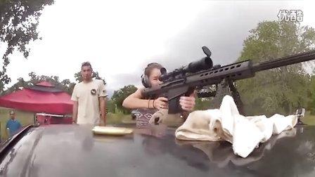 野外练习 - 巴雷特M82A1狙击步枪 (.50 BMG,12.7x99毫米)
