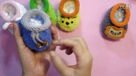 【artmay手工】第51集 棒针编织卡通造型宝宝婴儿绒线学步鞋之收口绳的制作教程