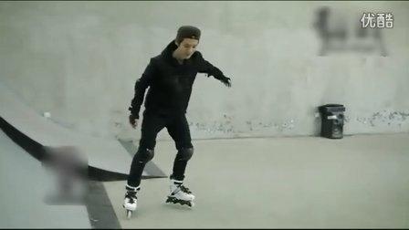 150909 鹿晗  我是证人轮滑练习