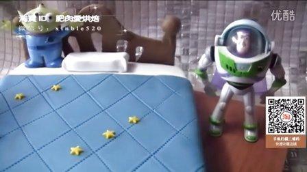 扫视频淘宝二维码有礼!翻糖床 创意翻糖蛋糕