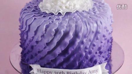 【微博@肥肉ai烘焙】 紫色翻糖蛋糕