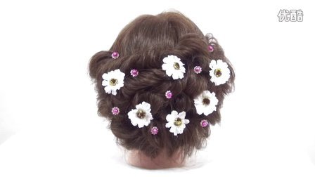 【新娘盘发】韩式新娘卷发撕花造型