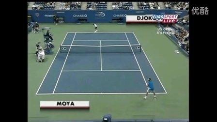 2007美国网球公开赛男单QF 德约科维奇VS莫亚 (自制HL)