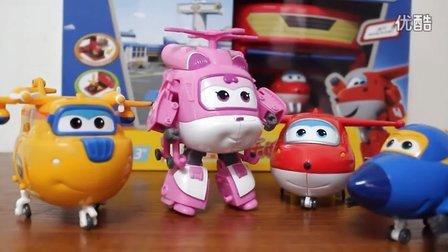 超级飞侠 迪斯尼玩具 小爱变形机器人套装 乐迪发射机库套装