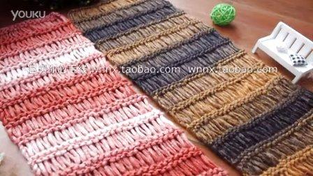 温暖你心毛线店 第一季 拉网花男女宝宝情侣围巾围脖的编织方法