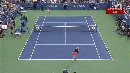 2015美国网球公开赛女单R3 利斯基VS斯特里科娃 (自制HL)
