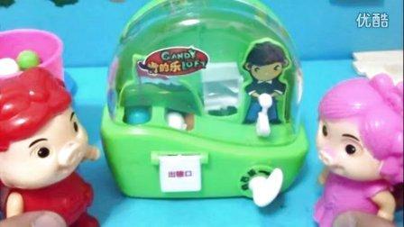 食玩 ★日本食玩★迷你高尔夫球 猪猪侠之超人玩具★粉红猪小妹VS
