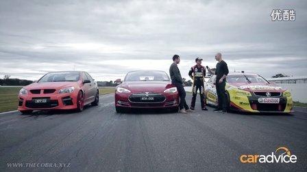 特斯拉P85D VS 霍顿V8超跑 VS 沃金肖HSV-GTS 电动车和房车的加速对决