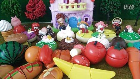 粉红猪小妹哆啦A梦机器猫日本食玩诱人糕点美食