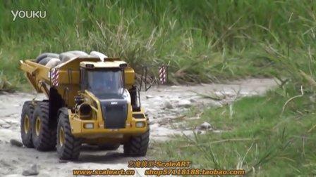 铰接式自卸车模型 B40D  复杂地形运行2