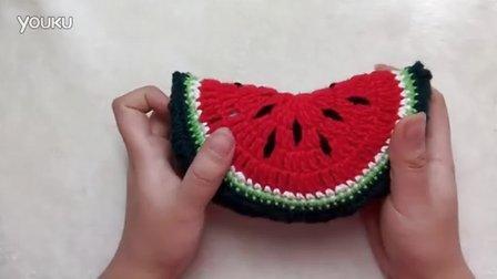 【向日葵手作坊】钩针 毛线编织玩偶 零基础教程 蔬果篮 西瓜