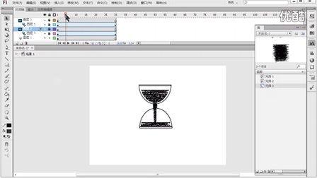 Flash动画制作教程,做一个简单的沙漏