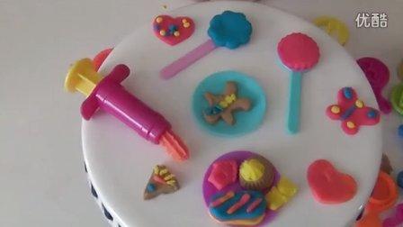 橡皮泥 培乐多 国外糖果 儿童过家家玩具 烘焙模具亲子游戏 彩泥蛋糕玩具 candy jar