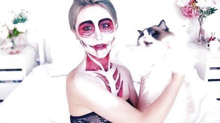 僵尸吸血鬼万圣节妆容Boyfriend Does My Makeup Halloween Edition ♥