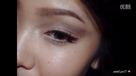 【LINNA】粉色眼线妆  pink eyeliner tutorial