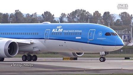 荷兰皇家航空首架波音787-9佩恩机场试飞 加长版