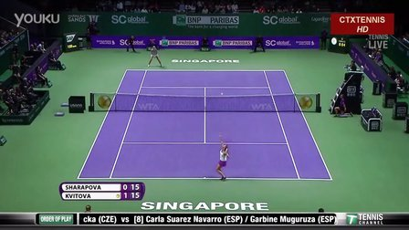 2015WTA新加坡年终总决赛SF 莎拉波娃VS科维托娃 (自制HL)