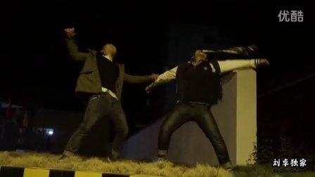 刘卓,刘朋,彭金森在街头疯狂跳krump hiphop freestyle
