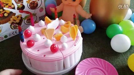超炫!开箱送礼 蔬菜水果蛋糕切切看演示 迪士尼黄金乐蛋玩具