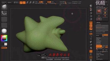 人体结构02zbrush操控视图及创建模型