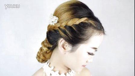 超漂亮的一款韩式新娘编发