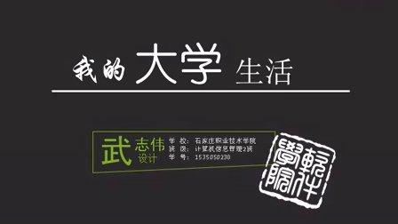 我的大学生活 ppt设计  石家庄职业技术学院 武志伟设计