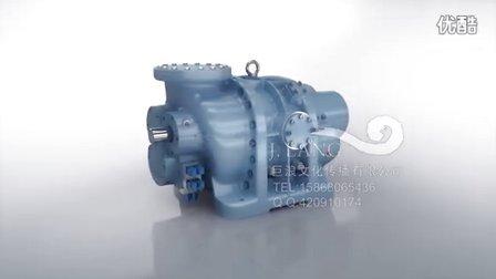 巨浪视觉-水泵动画-阀门动画-工业动画-螺杆压缩机三维动画