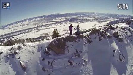 有爱 超创意!无人机记录男子雪山峰上向女友求婚