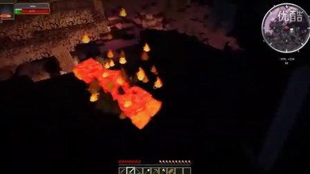 灰哥解说我的世界《奇葩生存记》9:喷火的大怪毛毛虫能不能不这么凶猛,钻石拿到手就