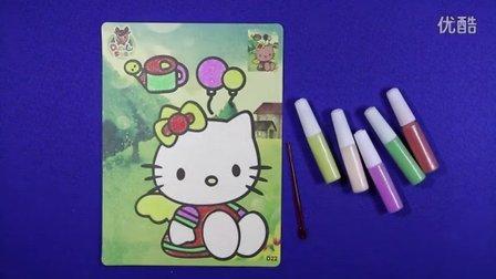 亲子游戏 哈喽kitty沙画 智力游戏 hello kitty 奥特曼 儿童沙画