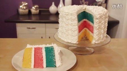 美国Wilton惠尔通彩虹蛋糕制作视频  高清