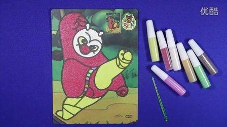 亲子游戏 功夫熊猫沙画 智力游戏 功夫熊猫动画 奥特曼 儿童沙画