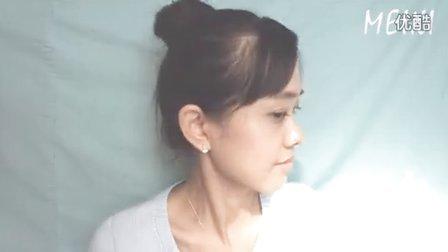 韩式丸子头的扎法 新手也可以很轻松的扎