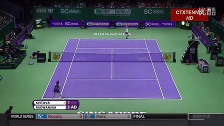2015WTA新加坡年终总决赛决赛 拉德万斯卡VS科维托娃 (自制HL)