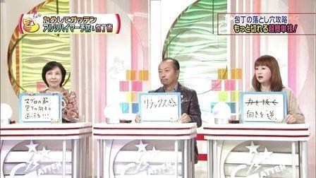 ためしてガッテン「アルツハイマー予防 麻木久仁子」 -12.11.21-
