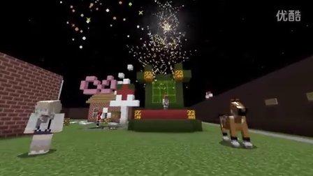 我的世界☆明月庄主☆圣诞速建小游戏☆姜饼屋Minecraft