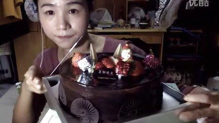 26圣诞节大蛋糕!圣诞快乐宝贝们!!爱吃饭的妹子 中国吃播~