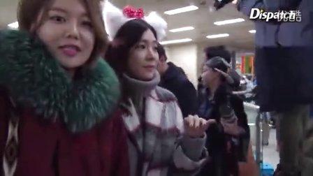 151225 少女时代 金浦机场返韩 新闻视频