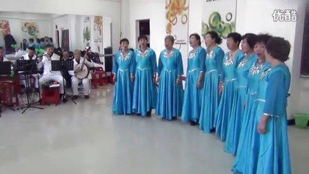 滨江西区艺术团联欢演出女生合唱:《红梅赞》