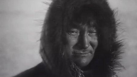 纪录片《北方的纳努克》1922 (爱斯基摩人_因纽特人) 北极大叔一招搞定海象生吃
