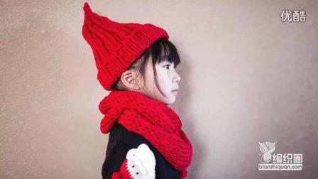 红色扁平线双螺纹帽冬季帽子嘉特汇编织小屋毛线的编织过程