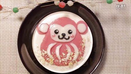 【喵博搬运】【食用系列】元旦快乐!新年小猴芝士蛋糕( ゚∀゚) ノ♡