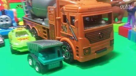 工程车玩具 机械搅拌车 赛车总动员 44