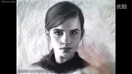 Drawing Emma Watson Art Video 国外素描人头像美女