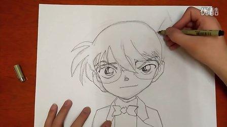 柯南漫画绘画学习微课跟李老师学画画