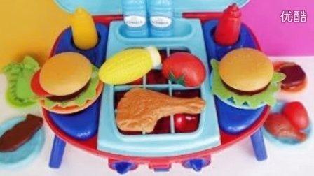 過家家玩具 燒烤牛排和雞肉  美味 水果切切看 水果忍者 BBQ Toys