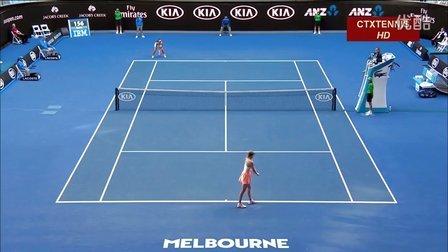 2016澳大利亚网球公开赛女单R1 莎拉波娃VS日比野菜绪 (自制HL)